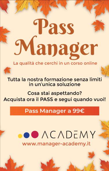 Pass Manager a 99€! La qualità che cerchi in un corso online